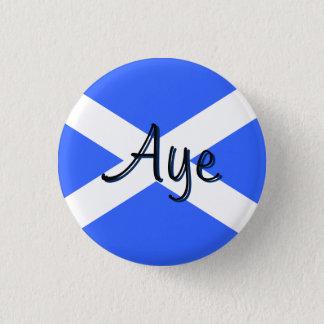 スコットランドの独立賛成Saltireの旗のバッジ 3.2cm 丸型バッジ