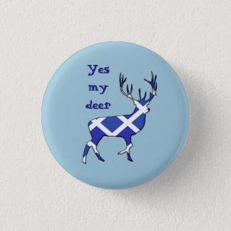 スコットランドの独立高地の雄鹿のYesのバッジ 缶バッジ