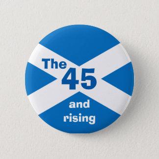 スコットランドの独立45および上昇のバッジ 缶バッジ