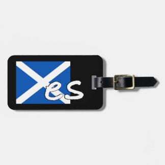 """スコットランドの独立: スコットランドの旗は""""Yes""""を綴ります、 ラゲッジタグ"""