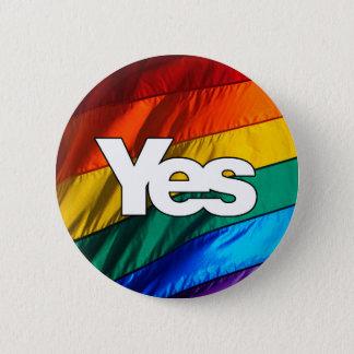 スコットランドの独立-虹のYesのバッジ 缶バッジ