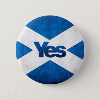 スコットランドの独立- SaltireのYesのバッジ 缶バッジ