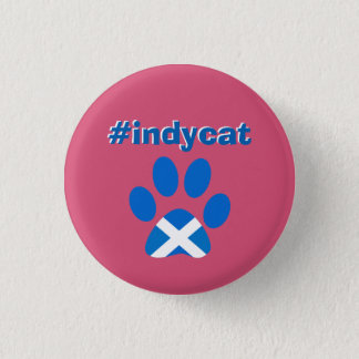 スコットランドの独立Saltireの旗猫の足のバッジ 3.2cm 丸型バッジ