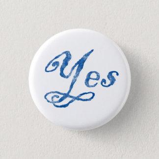 スコットランドの独立Yesのバッジ 3.2cm 丸型バッジ