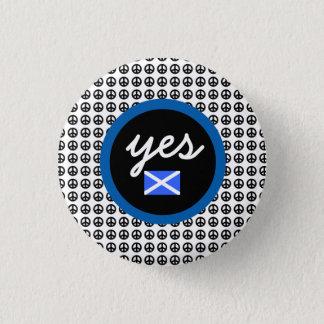 スコットランドの独立Yesの平和旗 3.2cm 丸型バッジ