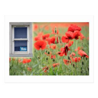 スコットランドの独立Yesの窓Cuparスコットランド ポストカード