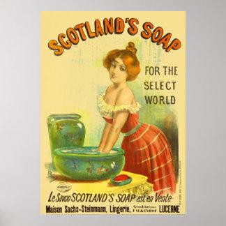 スコットランドの石鹸のヴィンテージ広告 ポスター
