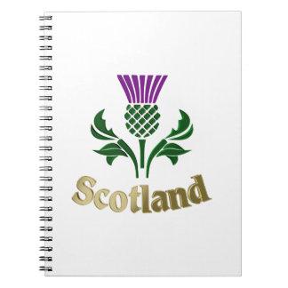 スコットランドの紋章のアザミ ノートブック