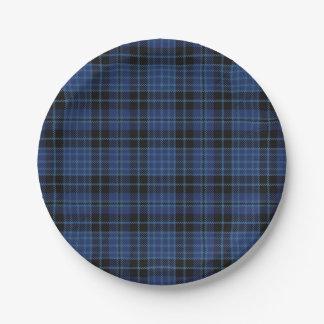 スコットランドの聖職者のタータンチェック格子縞の好み ペーパープレート