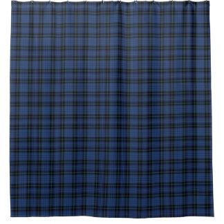 スコットランドの聖職者の暗藍色のタータンチェックのシャワー・カーテン シャワーカーテン