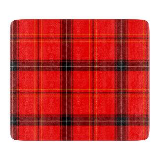 スコットランドの赤いタータンチェック カッティングボード