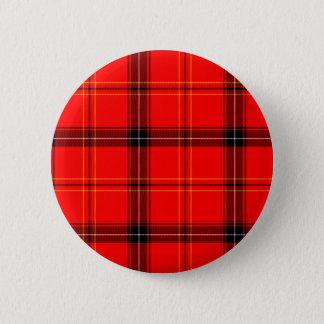 スコットランドの赤いタータンチェック 缶バッジ