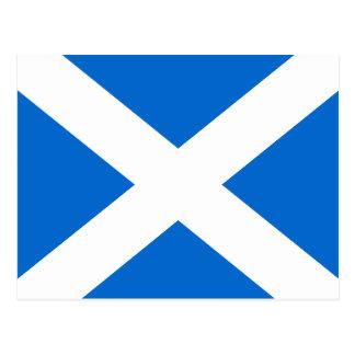 スコットランドの郵便はがきのスコットランド人のSaltireの旗 ポストカード