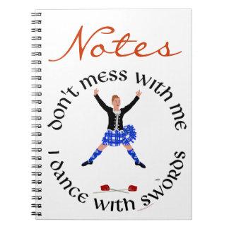 スコットランドの高地のダンサー ノートブック