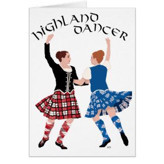 スコットランドの高地のダンスの巻き枠 カード