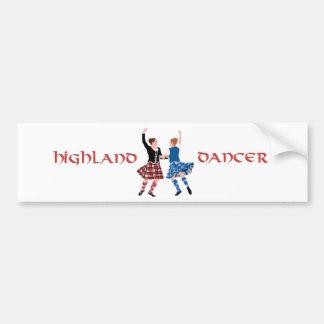 スコットランドの高地のダンスの巻き枠 バンパーステッカー