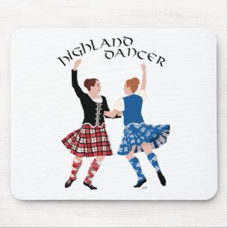 スコットランドの高地のダンスの巻き枠 マウスパッド