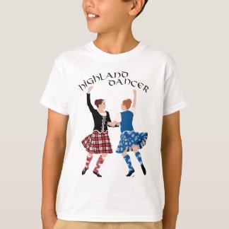 スコットランドの高地のダンスの巻き枠 Tシャツ