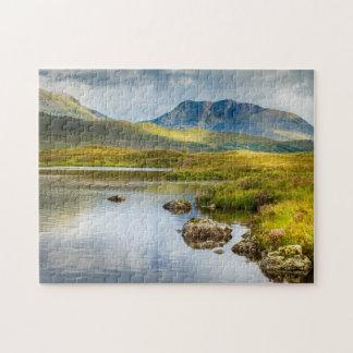 スコットランドの高地の景色のジグソーパズル ジグソーパズル