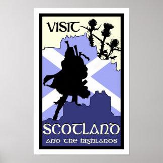 スコットランドの高地ポスター ポスター
