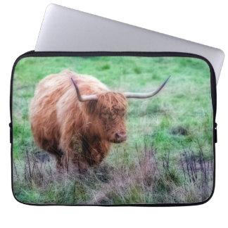 スコットランドの高地牛写真の袖 ラップトップスリーブ