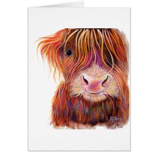 スコットランドの高地牛「子供SHiRLeY Mac著2' カード