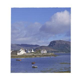 スコットランドの高地、Westerロス、Plockton. ノートパッド