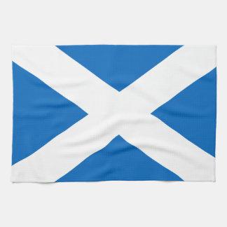 スコットランドのSaltireのスコットランドの旗(公式色) キッチンタオル