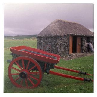 スコットランドのSkye、Kilmuirの島。 田園景色 タイル