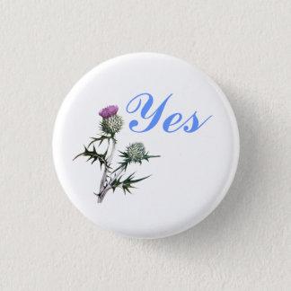スコットランドのYesのアザミの花Pinbackの花 3.2cm 丸型バッジ