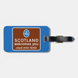 スコットランドは印、イギリス歓迎します ラゲッジタグ