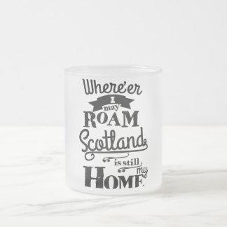 スコットランドは私の家庭のマグです フロストグラスマグカップ