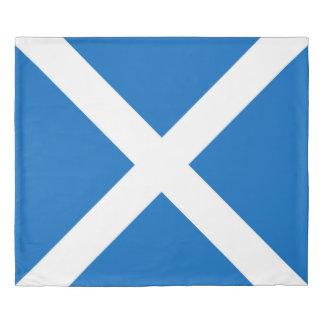 スコットランドまたはSaltireの旗 掛け布団カバー