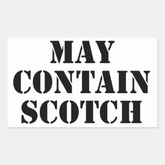 スコットランドを含むよろしいです 長方形シール