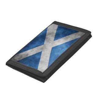 スコットランドグランジなSt Andrewの十字 ナイロン三つ折りウォレット
