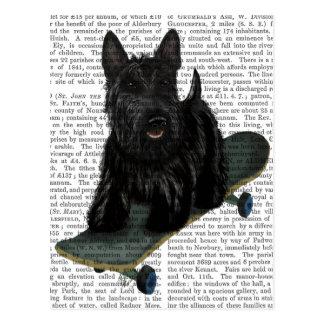 スコットランドテリアおよびスケートボード ポストカード