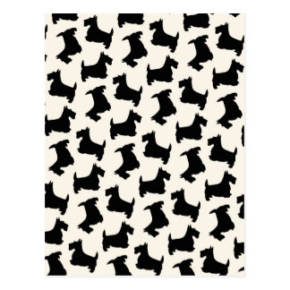 スコットランドテリアのスコッチテリア犬パターン黒 ポストカード