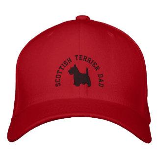 スコットランドテリアのパパのスコッチテリア犬 刺繍入りキャップ