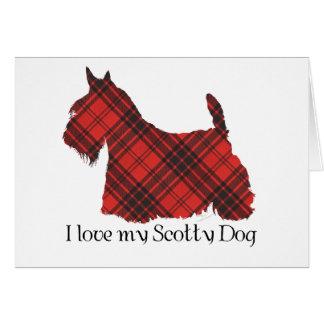 スコットランドテリアのマックスウェルのタータンチェック カード