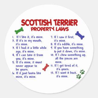 スコットランドテリアの特性の法律2 ラウンドシール