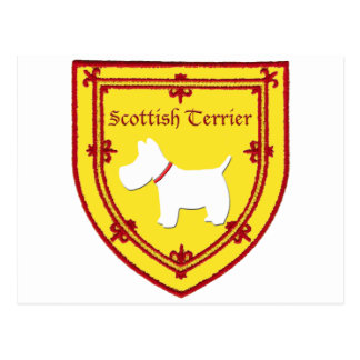 スコットランドテリアの紋章の元のデザインv2 ポストカード