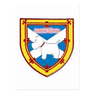 スコットランドテリアの紋章v4 ポストカード