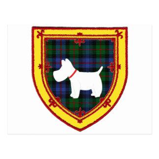 スコットランドテリアの紋章v5 ポストカード