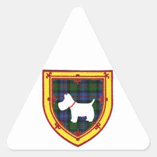 スコットランドテリアの紋章v5 三角形シール