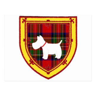 スコットランドテリアの紋章v7 ポストカード