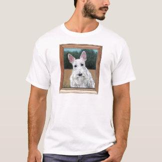 スコットランドテリアの絵画のワイシャツ Tシャツ