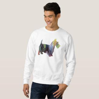 スコットランドテリアの芸術 スウェットシャツ