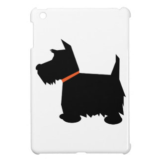 スコットランドテリア犬のかわいく黒いシルエット、ギフト iPad MINI カバー