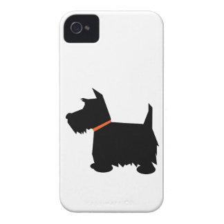 スコットランドテリア犬のシルエットのiphone 4ケース Case-Mate iPhone 4 ケース