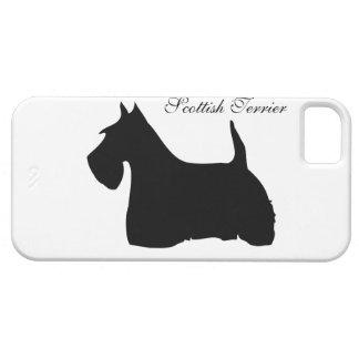 スコットランドテリア犬のシルエットのiphone 5 case mate iPhone SE/5/5s ケース